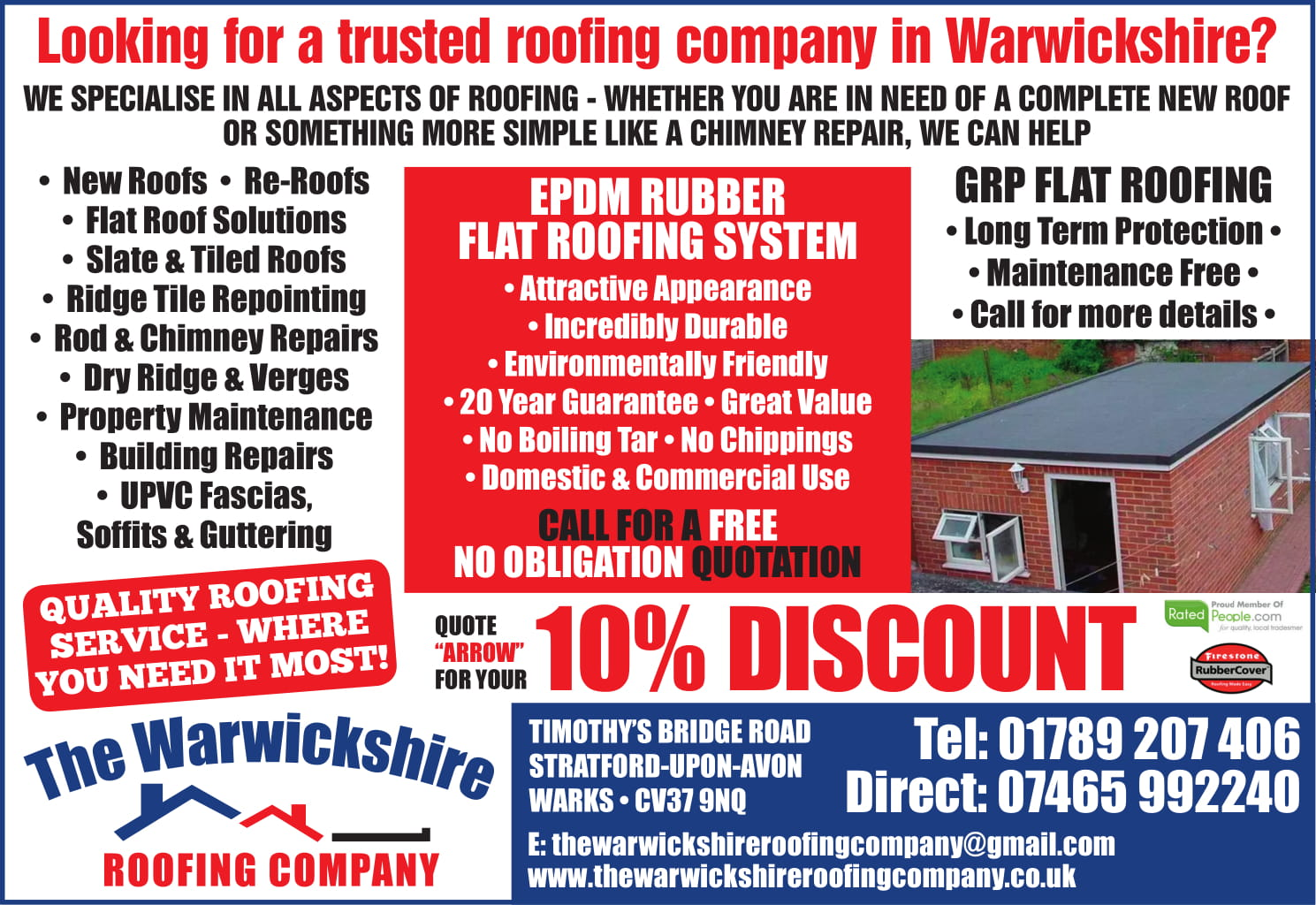 the warwickshire roofing co