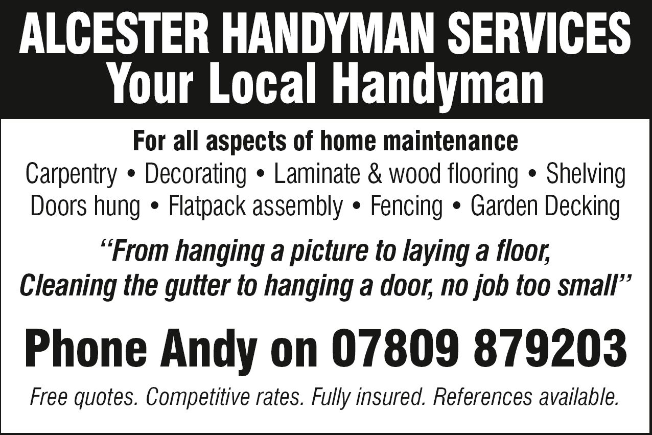 alcester handyman - alcester