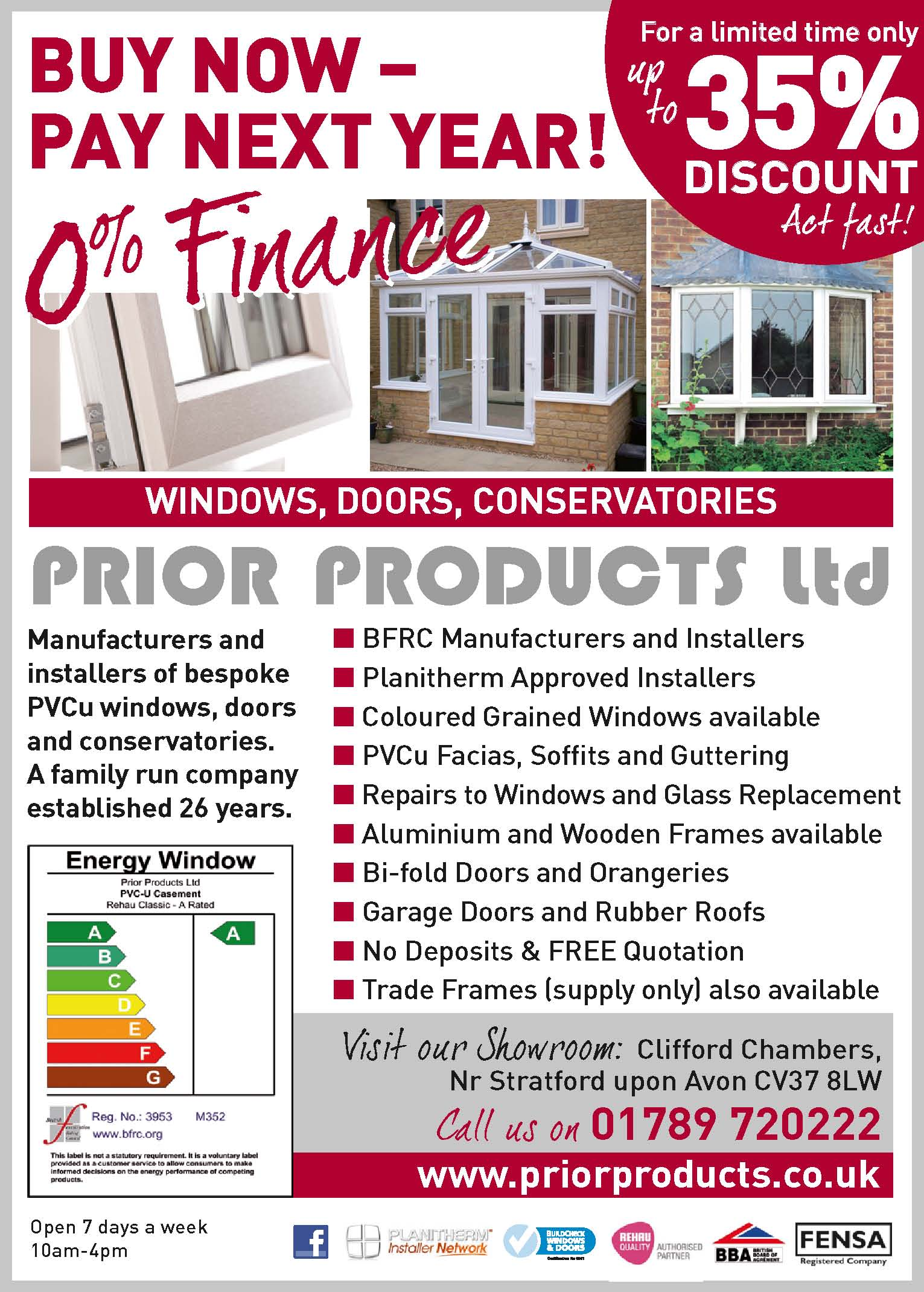 conservatories stratford upon avon prior products