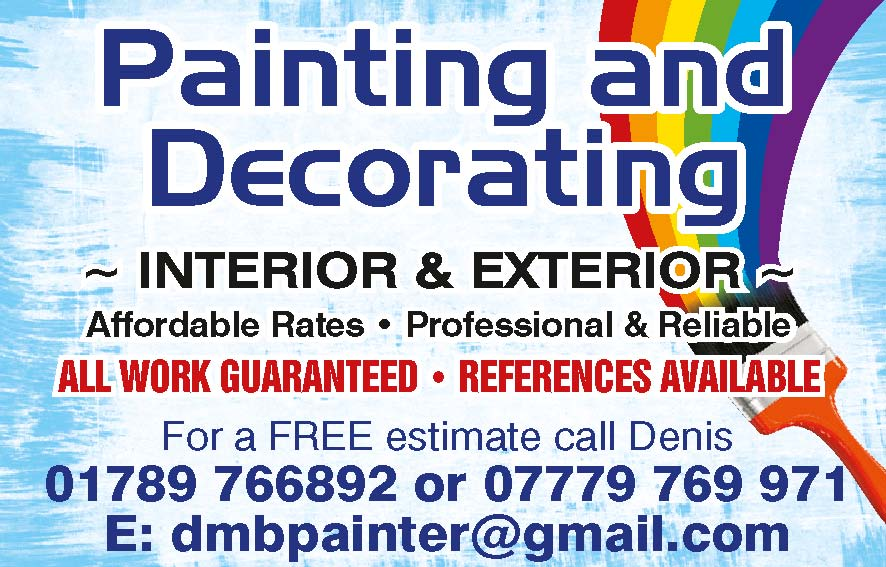 DMB DECORATOR - STRATFORD UPON AVON