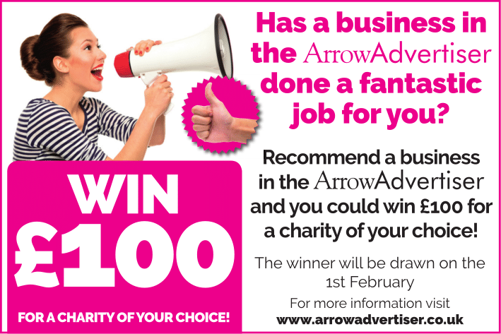 win £100 for charity
