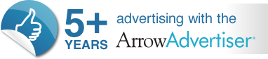 5+ years advertising with the Arrow Advertiser