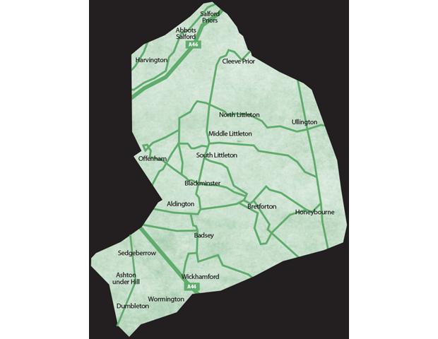 Evesham Villages Map