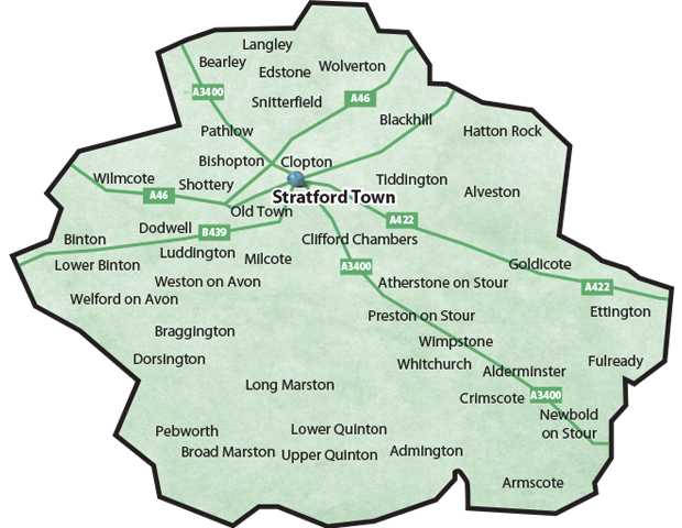 Stratford and Villages Map